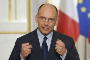 Italian PM Enrico Letta in Paris